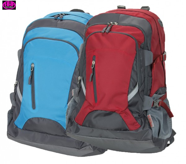 Rucksack, strapazierfähiges Nylon-Material - in 2 Farben