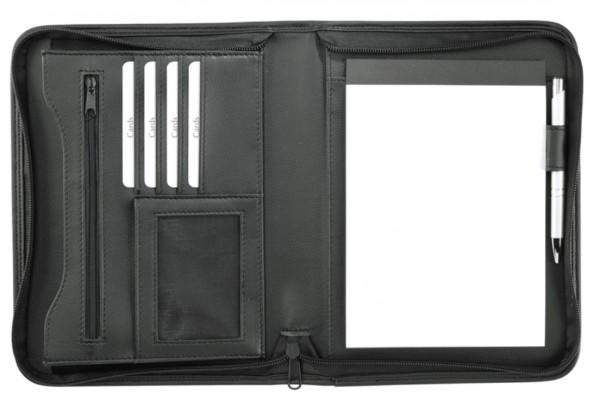 Schreibmappe A5 mit Reißverschluss Lederähnliches Felina-Material excl. Marke EuroStyle