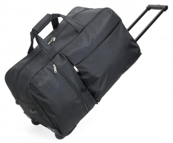 Rollenreisetasche Jacquard-Polyester, schwarz