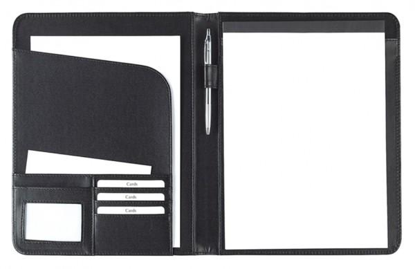 Schreibmappe A4 Lederähnliches Felina-Material schwarz