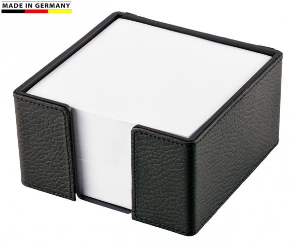 Zettelbox Leder schwarz