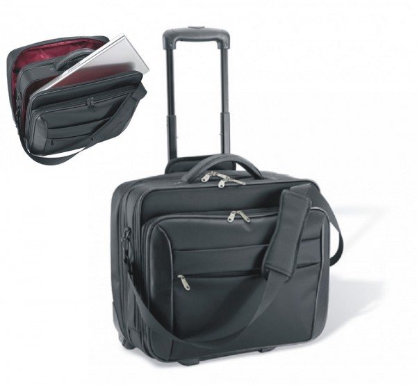 Business-Trolley Polyester schwarz, excl. Marke EuroStyle