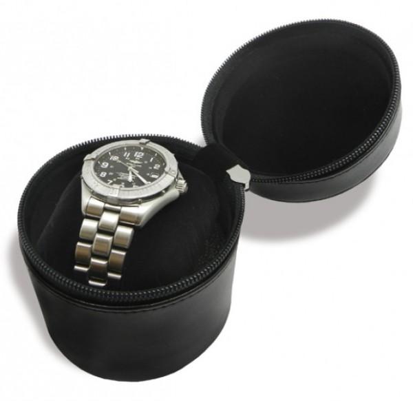 Uhrenbox lederähnliches Material, schwarz excl. Marke EuroStyle