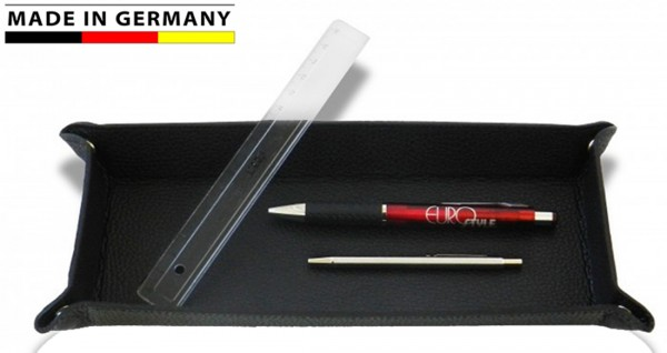 Stifteschale Leder schwarz