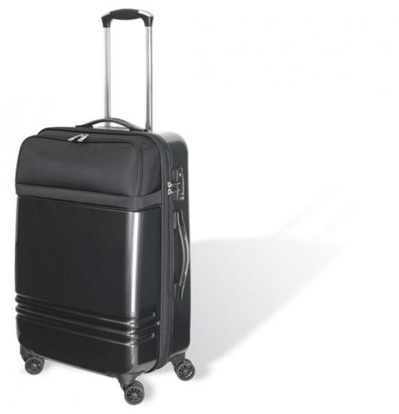 Trolley Polycarbonat/ Polyester, schwarz, in 3 Größen