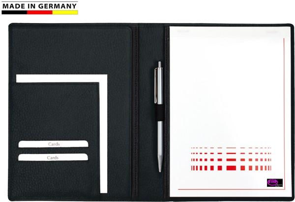 Schreibmappe A5 Leder schwarz