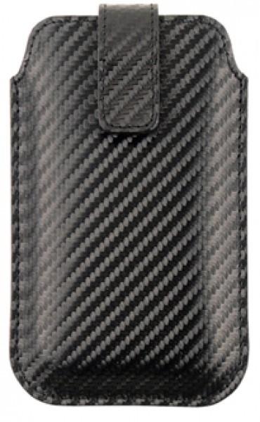 Handmade in Germany iPhone 6 Hülle Rindleder Carbon Optik, schwarz excl. Marke EuroStyle