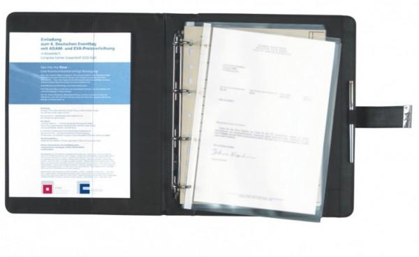 Dokumentenmappe A4 Corello Kunstleder, schwarz excl. Marke EuroStyle