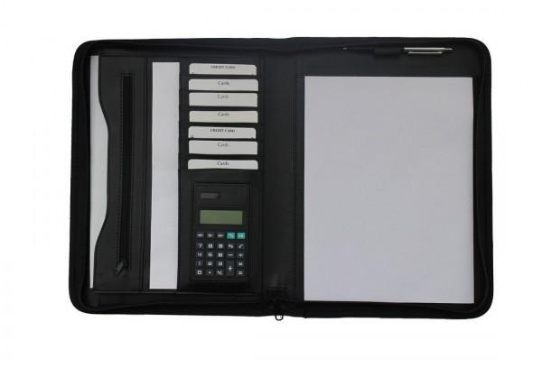 Schreibmappe A4 mit Reißverschluss Lederähnliches Felina-Material excl. Marke EuroStyle