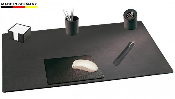 Schreibtischset Leder 6-tlg. Handmade in Germany weiches genarbtes Rindnappaleder 5 Farben-