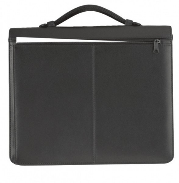 Verkaufsmappe A4 mit Reißverschluss Pelli-Rindnappa, schwarz excl. Marke EuroStyle