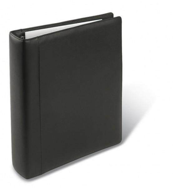 DIN A4 Ordner – Seta Rindnappaleder schwarz – excl. Marke EuroStyle
