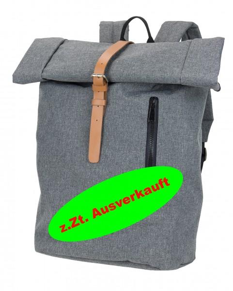 Kurierrucksack - hochwertiger Rucksack in Kombination aus Melange und Leder