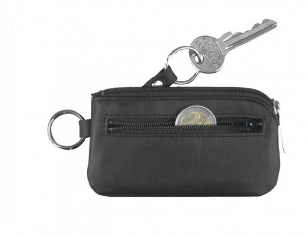 Schlüsseletui mit Reißverschluss Rindnappaleder, schwarz excl. Marke EuroStyle