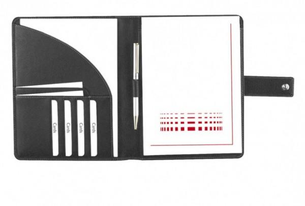 Schreibmappe A5 Copana-Rindnappaleder mit silbergrauen Nähten excl. Marke EuroStyle